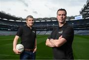9 September 2016; Former Dublin player Ray Cosgrove, right, and former Mayo manager James Horan were in Croke Park in Dublin today to announce details on the EirGrid Digital Clock Competition launch. EirGrid, the Official Timing Sponsor of Croke Park, are giving one club in each province the chance to win a digital clock and scoreboard. To enter please log onto www.eirgridgroup.com/eirgrid-time-is-now and submit 200 words as to why your club deserves this prize.  Photo by Ramsey Cardy/Sportsfile