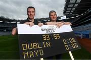 9 September 2016; Former Dublin player Ray Cosgrove, left, and former Mayo manager James Horan were in Croke Park in Dublin today to announce details on the EirGrid Digital Clock Competition launch. EirGrid, the Official Timing Sponsor of Croke Park, are giving one club in each province the chance to win a digital clock and scoreboard. To enter please log onto www.eirgridgroup.com/eirgrid-time-is-now and submit 200 words as to why your club deserves this prize.  Photo by Ramsey Cardy/Sportsfile
