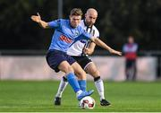 9 September 2016; Ryan Swan of UCD is tackled by Alan Keane of Dundalk during the Irish Daily Mail FAI Cup Quarter-Final match between UCD and Dundalk at the UCD Bowl in Belfield, Dublin. Photo by Ramsey Cardy/Sportsfile