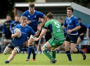 10 September 2016; Max Kearney  of Leinster in action against Neil Moylett of Connacht during the U19 Interprovincial Series Round 2 match between Connacht and Leinster at Galwegians RFC in Galway. Photo by Oliver McVeigh/Sportsfile