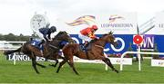 10 September 2016; Zhukova, with Pat Smullen up, on their way to winning the KPMG Enterprise Stakes from second place US Army Ranger with Ryan Moore at Leopardstown Racecourse in Dublin. Photo by Matt Browne/Sportsfile