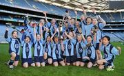 11 January 2011; The Scoil Lorcáin team celebrate after winning the Corn Comhar Linn. Allianz Cumann na mBunscol Football Finals, Corn Comhar Linn, Scoil Lorcáin, Monkstown, Dublin v Scoil Loreto, Rathfarnham, Dublin. Croke Park, Dublin. Picture credit: Barry Cregg / SPORTSFILE