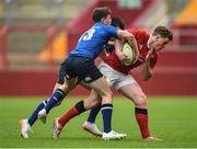 11 September 2016; Evan O'Gorman of Munster is tackled by Cillian Redmond of Leinster during the U18 Clubs Interprovincial Series Round 2 match between Munster and Leinster at Thomond Park in Limerick. Photo by David Maher/Sportsfile