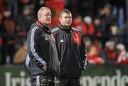 8 January 2011; Munster squad advisor Mick Galwey, left, and assistant coach Anthony Foley. Celtic League, Munster v Glasgow Warriors, Musgrave Park, Cork. Picture credit: Diarmuid Greene / SPORTSFILE