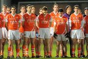 15 January 2011; The Armagh players observe a minute's silence for the late Michaela McAreavey. Barrett Sports Lighting Dr. McKenna Cup, Section C, Down v Armagh, Pairc Esler, Newry, Co. Down. Picture credit: Oliver McVeigh / SPORTSFILE