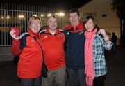 15 January 2011; Munster supporters, from left, Imelda O'Grady, Tony O'Grady, John Doyle and Aoife Doyle, all from Limerick, in Toulon ahead of their side's  Heineken Cup, Pool 3, Round 5, game against Toulon on Sunday. Toulon, France. Picture credit: Diarmuid Greene / SPORTSFILE