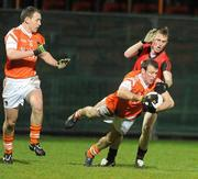 15 January 2011; Joe Feeney, Armagh, in action against Paul Devlin, Down. Barrett Sports Lighting Dr. McKenna Cup, Section C, Down v Armagh, Pairc Esler, Newry, Co. Down. Picture credit: Oliver McVeigh / SPORTSFILE