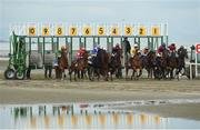 13 September 2016; A general view of the start of the At The Races Handicap during the Laytown Races in Laytown, Co Meath. Photo by David Maher/Sportsfile
