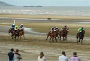 13 September 2016; Emperor Bob, right, with Donagh O'Connor up, on their way to winning the Marquees Nationwide Claiming Race during the Laytown Races in Laytown, Co Meath. Photo by David Maher/Sportsfile