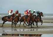 13 September 2016; A general view of the runners during the Racing Post Handicap during the Laytown Races in Laytown, Co Meath. Photo by David Maher/Sportsfile