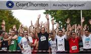 13 September 2016; A general view before the start of the Grant Thornton Corporate 5K Team Challenge 2016 at Dublin Docklands. Photo by Ramsey Cardy/Sportsfile