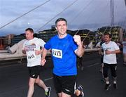 13 September 2016; Colin Moran, Bank of Ireland, on his way to finishing in 1353th place in a net time of 22:30 during the Grant Thornton Corporate 5K Team Challenge 2016 at Dublin Docklands. Photo by Ray McManus/Sportsfile