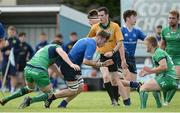 10 September 2016; Max Kearney of Leinster in action against Neil Moylett of Connacht during the U19 Interprovincial Series Round 2 match between Connacht and Leinster at the Sportsground in Galway. Photo by Oliver McVeigh/Sportsfile