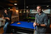 15 September 2016; Buskers On The Ball, Dublin's one of a kind social interactive sports bar and entertainment venue officially launched in Dublin last night. Former Irish soccer legends Jason McAteer and Phil Babb, left, cut the ribbon and welcomed guests into Dublin's newest interactive sports bar. Pictured is Phil Babb at the Temple Bar Hotel in Dublin. Photo by Matt Browne/Sportsfile
