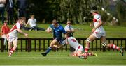 17 September 2016; Liam Turner of Leinster is tackled by Jamie Macartney  of Ulster during the U18 Schools Interprovincial Series Round 3 match between Ulster and Leinster at Methodist College, Belfast. Photo by Oliver McVeigh/Sportsfile
