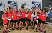 17 September 2016; The Dundrum team celebrate with the cup during the Volkswagen Junior Football 7s at St Judes GAA Club, Wellington Lane, Dublin.  Photo by Sam Barnes/Sportsfile