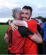 17 September 2016; Cormac Venney, right, and Martin Coughlan, both of Dundrum celebrate after winning the cup final during the Volkswagen Junior Football 7s at St Judes GAA Club, Wellington Lane, Dublin.  Photo by Sam Barnes/Sportsfile
