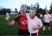 17 September 2016; Martin Coughlan, left, and Conor McShane, both of Dundrum celebrate after winning the cup final during the Volkswagen Junior Football 7s at St Judes GAA Club, Wellington Lane, Dublin.  Photo by Sam Barnes/Sportsfile