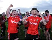 17 September 2016; Oisin McKibbin, right, and Paddy Curry, both of Dundrum celebrate after winning the cup final during the Volkswagen Junior Football 7s at St Judes GAA Club, Wellington Lane, Dublin.  Photo by Sam Barnes/Sportsfile
