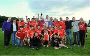 17 September 2016; The Drundrum team celebrate after winning the cup final during the Volkswagen Junior Football 7s at St Judes GAA Club, Wellington Lane, Dublin.  Photo by Sam Barnes/Sportsfile