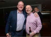 17 September 2016; Former Kerry footballer Mick Galwey with Richard Coffey fromCork at the GPA Former Players Event in Croke Park. Over 450 former county footballers and hurlers gathered at the annual lunch which is now in its fourth year. The event featured GPA Lifetime Achievement Awards for Mayo football hero of the 1950s Paddy Prendergast and Cork dual legend, Ray Cummins at Croke Park, Dublin.  Photo by Matt Browne/Sportsfile