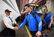 18 September 2016; Diarmuid Connolly of Dublin arrives ahead the GAA Football All-Ireland Senior Championship Final match between Dublin and Mayo at Croke Park in Dublin. Photo by Stephen McCarthy/Sportsfile