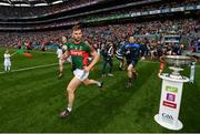 18 September 2016; Aidan O'Shea of Mayo runs out onto the pitch ahead of the GAA Football All-Ireland Senior Championship Final match between Dublin and Mayo at Croke Park in Dublin. Photo by Stephen McCarthy/Sportsfile
