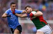 18 September 2016; Aidan O'Shea of Mayo in action against James McCarthy of Dublin during the GAA Football All-Ireland Senior Championship Final match between Dublin and Mayo at Croke Park in Dublin. Photo by Stephen McCarthy/Sportsfile