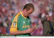 23 September 2001; John McDermott of Meath with his runners-up medal following the GAA Football All-Ireland Senior Championship Final match between Galway and Meath at Croke Park in Dublin. Photo by Aoife Rice/Sportsfile