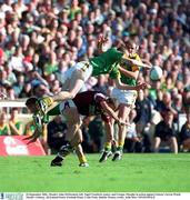 23 September 2001; John McDermott, left, Nigel Crawford, centre, and Cormac Murphy of Meath in action against Kevin Walsh of Galway during the GAA Football All-Ireland Senior Championship Final match between Galway and Meath at Croke Park in Dublin. Photo by Aoife Rice/Sportsfile