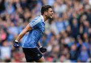 18 September 2016; Bernard Brogan of Dublin celebrates after scoring his side's first goal during the GAA Football All-Ireland Senior Championship Final match between Dublin and Mayo at Croke Park in Dublin. Photo by Eóin Noonan/Sportsfile