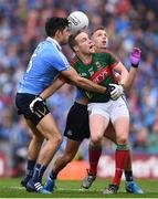 18 September 2016; Andy Moran of Mayo in action against Cian O'Sullivan, left, and Jonny Cooper of Dublin, during the GAA Football All-Ireland Senior Championship Final match between Dublin and Mayo at Croke Park in Dublin. Photo by Stephen McCarthy/Sportsfile