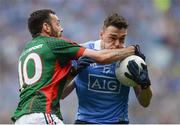 18 September 2016; Paddy Andrews of Dublin in action against Kevin McLoughlin of Mayo during the GAA Football All-Ireland Senior Championship Final match between Dublin and Mayo at Croke Park in Dublin. Photo by Eóin Noonan/Sportsfile