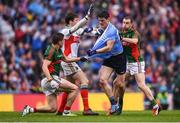 18 September 2016; Diarmuid Connolly of Dublin tussles with Lee Keegan, left, David Clarke, second from left, and Keith Higgins, right, of Mayo during the GAA Football All-Ireland Senior Championship Final match between Dublin and Mayo at Croke Park in Dublin. Photo by Stephen McCarthy/Sportsfile