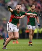 18 September 2016; Cillian O'Connor of Mayo celebrates after scoring his side's equalising point during the closing stages of the GAA Football All-Ireland Senior Championship Final match between Dublin and Mayo at Croke Park in Dublin. Photo by David Maher/Sportsfile