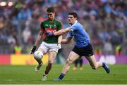 18 September 2016; Lee Keegan of Mayo is tackled by Diarmuid Connolly of Dublin during the GAA Football All-Ireland Senior Championship Final match between Dublin and Mayo at Croke Park in Dublin. Photo by Brendan Moran/Sportsfile