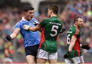 18 September 2016; Diarmuid Connolly of Dublin and Lee Keegan of Mayo clash during the GAA Football All-Ireland Senior Championship Final match between Dublin and Mayo at Croke Park in Dublin. Photo by David Maher/Sportsfile