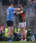 18 September 2016; Lee Keegan of Mayo and Diarmuid Connolly of Dublin in a tussle of the ball during the GAA Football All-Ireland Senior Championship Final match between Dublin and Mayo at Croke Park in Dublin. Photo by Piaras Ó Mídheach/Sportsfile