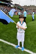 18 September 2016; eir GAA flagbearer Ryan Shields, age 11, from Dublin, pictured at the All-Ireland Senior Football Final between Dublin and Mayo at Croke Park in Dublin.   Photo by Brendan Moran/Sportsfile