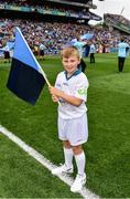 18 September 2016; eir GAA flagbearer Brendan O'Connell, age 11, from Blackrock, Co. Dublin, pictured at the All-Ireland Senior Football Final between Dublin and Mayo at Croke Park in Dublin.   Photo by Brendan Moran/Sportsfile
