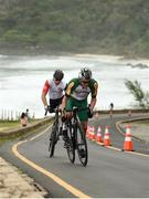 16 September 2016; Craig Ridgard of South Africa, right, and Roger Bolliger of Switzerland in action during the Men's C1-3 Road Race at the Pontal Cycling Road during the Rio 2016 Paralympic Games in Rio de Janeiro, Brazil. Photo by Diarmuid Greene/Sportsfile