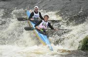 24 September 2016; Michael Brennan and Michael Fitzsimon in action during the The 57th International Liffey Descent on the River Liffey in Dublin. Photo by Paul Mohan/Sportsfile