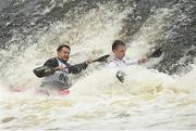 24 September 2016; Nicky Cresser and Jonatahon Boyton in action during the The 57th International Liffey Descent on the River Liffey in Dublin. Photo by Paul Mohan/Sportsfile