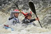 24 September 2016; Stuart Bell and Steven Bush in action during the The 57th International Liffey Descent on the River Liffey in Dublin. Photo by Paul Mohan/Sportsfile