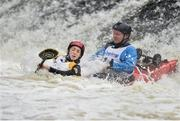 24 September 2016; Sarah and Chris Madden in action during the The 57th International Liffey Descent on the River Liffey in Dublin. Photo by Paul Mohan/Sportsfile