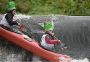 24 September 2016; Gildas and Nathaniel Laplaud in action during the The 57th International Liffey Descent on the River Liffey in Dublin. Photo by Paul Mohan/Sportsfile