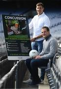 26 September 2016; Bon Secours Health System and UMPC, the leader in concussion worldwide, have come together with the GAA to present Ireland's first Concussion Symposium which takes place in Croke Park on Saturday October 8, 2016. The event will feature a panel discussion involving some of the GAA's leading players, including Donegal footballer Michael Murphy and Tipperary hurler Seamus Callinan, and their own experiences of concussion. The National Concussion Symposium will take place in Croke Park on Saturday October 8th in Croke Park hosted by UPMC and the Bon Secours Health System in association with the GAA and those wishing to atttend can regiser their interest by email to gillian@investnet.ie or by calling 017008508. In attendance at the briefing are Seamus Callinan, left, of Tipperary and Michael Murphy of Donegal. Photo by Brendan Moran/Sportsfile