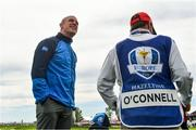 27 September 2016; Former Ireland and Munster rugby captain Paul O'Connell before his round of the Celebrity Matches at The 2016 Ryder Cup Matches at the Hazeltine National Golf Club in Chaska, Minnesota, USA. Photo by Ramsey Cardy/Sportsfile