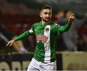 27 September 2016; Sean Maguire of Cork City celebrates after scoring his sides second goal during the SSE Airtricity League Premier Division match between Cork City and Galway United at Turners Cross in Cork. Photo by David Maher/Sportsfile