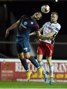 27 September 2016; Achille Campion of Sligo Rovers in action against Sean Hoare of St Patrick's Athletic during the SSE Airtricity League Premier Division match between St Patrick's Athletic and Sligo Rovers at Richmond Park in Dublin. Photo by Matt Browne/Sportsfile